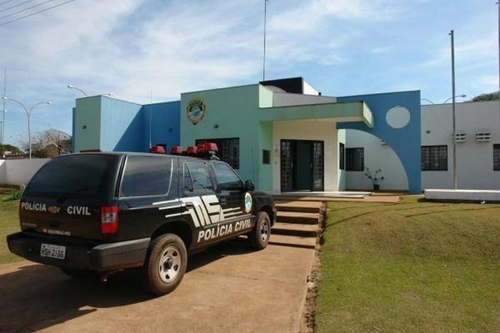 Delegacia de Polícia Civil de Amambai — Foto: Moreira Produções/Divulgação
