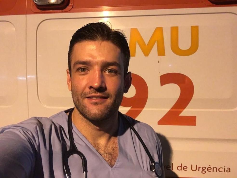 O médico cardiologista Marcos Petyk Sereja, de 34 anos, trabalhava em Guaratuba e Paranaguá, no litoral do Paraná — Foto: Arquivo pessoal
