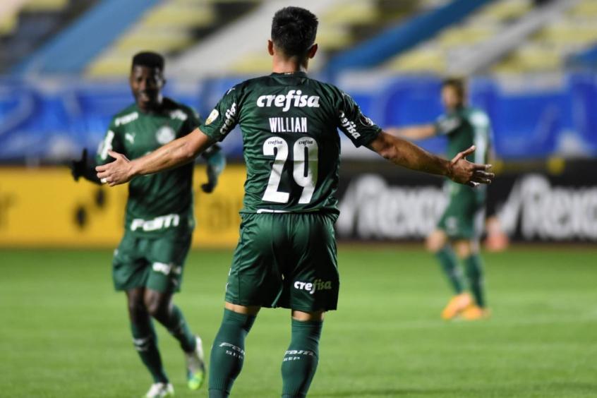 Palmeiras bateu o Bolívar por 2 a 1 na estreia da Libertadores no SBT (Foto: Divulgação/Libertadores)