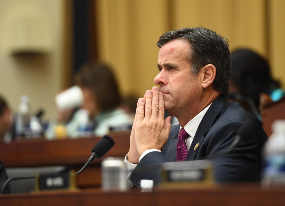 Foto de julho de 2019 mostra John Ratcliffe, atualmente diretor de Inteligência Nacional dos EUA, quando era deputado republicano pelo Texas, durante audiência em Washington — Foto: Saul Loeb/AFP