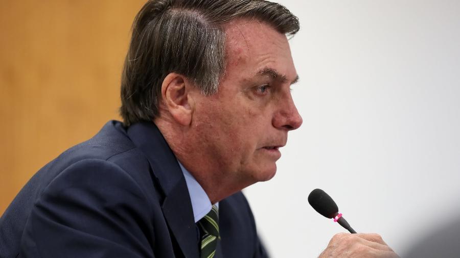 25.mar.2020 - O presidente Jair Bolsonaro (sem partido) em videoconferência com governadores do Sudeste Imagem: Marcos Corrêa/PR
