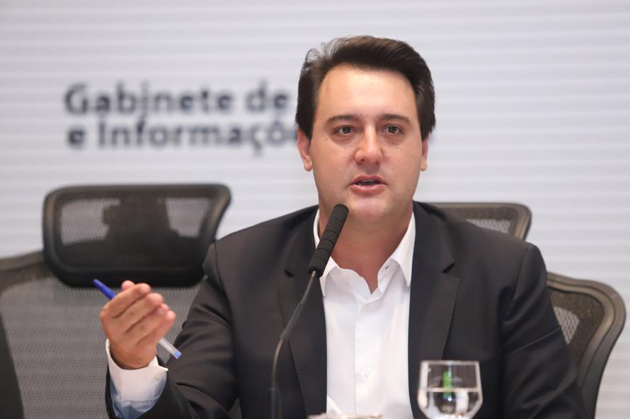 Governador do Paraná, Carlos Massa Ratinho Junior. (Rodrigo Felix Leal/ANP)