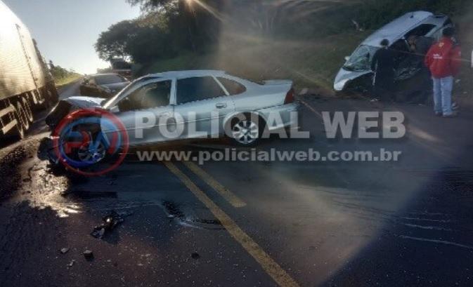 Colisão entre carros deixa dois feridos entre Brasilândia do Sul e Alto Piquiri