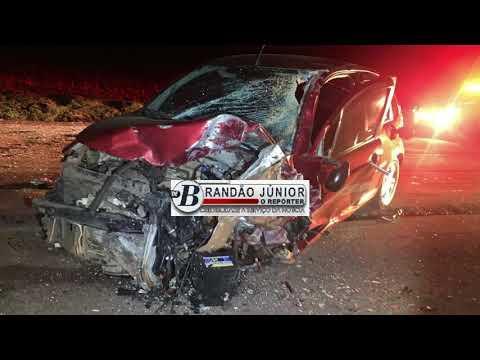 Colisão frontal na PR 486 em Brasilândia do Sul mata uma pessoa e deixa quatro feridos - Brandão Júnior